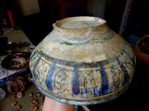 An Antique Fritware Persian Bowl