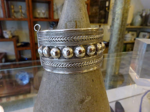 Antique Yemen Bedouin Silver Bangle