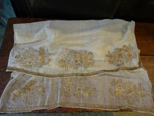 A 19th Century Ottoman Gold Thread Embroidery Panel Textile