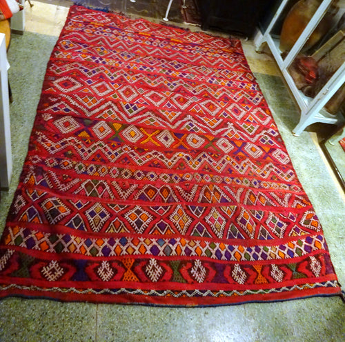 Vintage Hand knotted Moroccan Rug