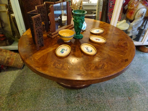 A French Art Deco Burr walnut Round Coffee Table