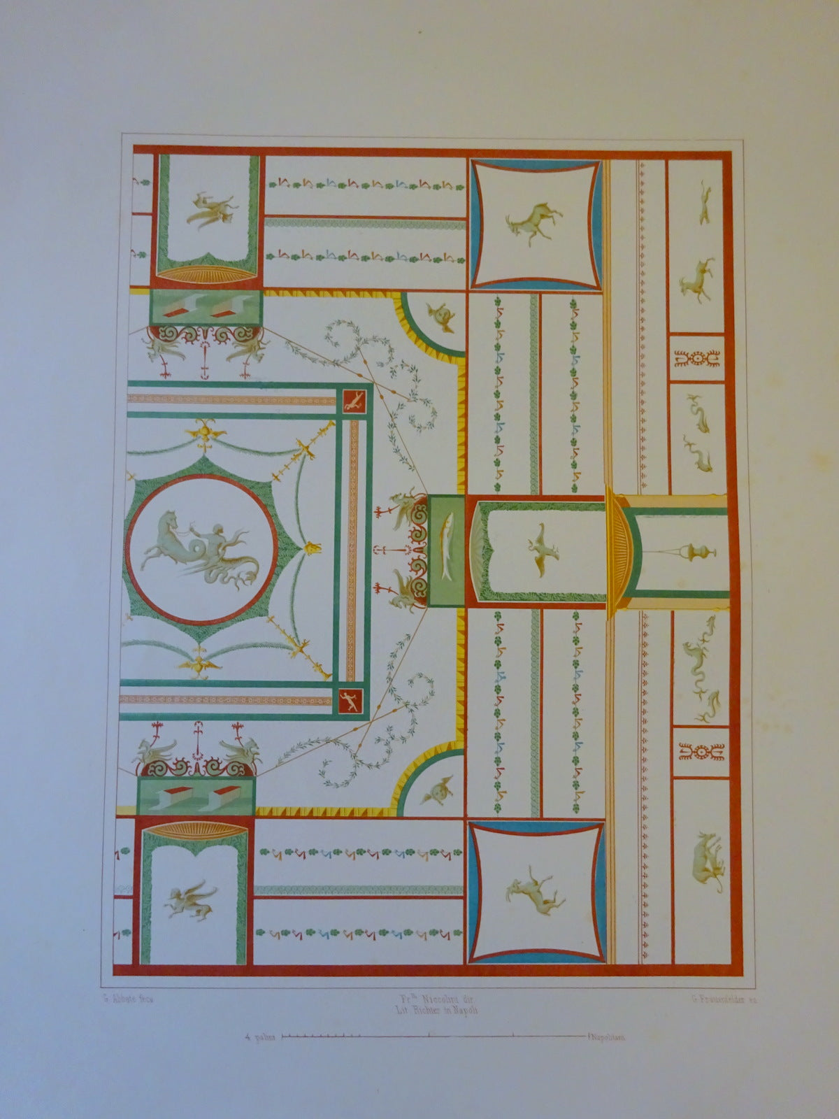 An Antique Chromolithograph Folio Print Pompei Architecture I