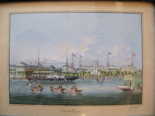 """The Hongs of Canton Waterfront"" 19th Century Chinese School Watercolour"
