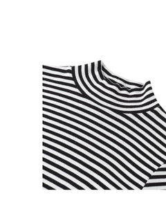 2x2 soft stripe Tuqqa X-long, Black/White
