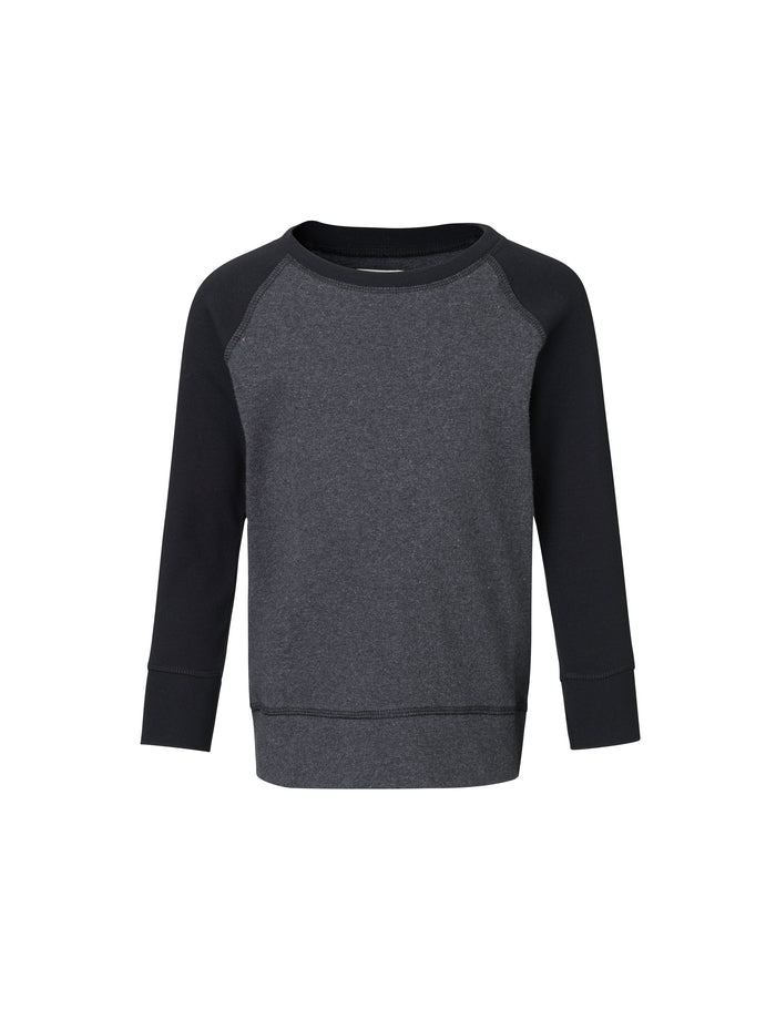 Cotton Rib Steltino Contrast, Charcoal Melange/Black