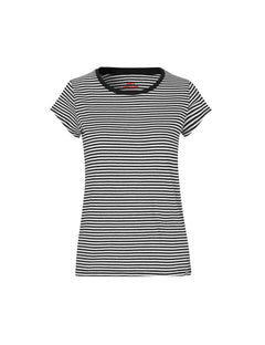 Organic Favorite Stripe Teasy, Black/White