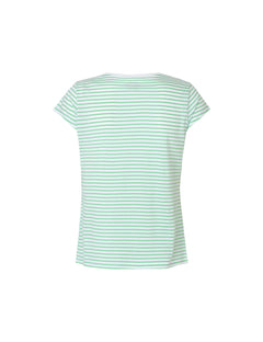 Organic Favorite Stripe Teasy, White/Light Green