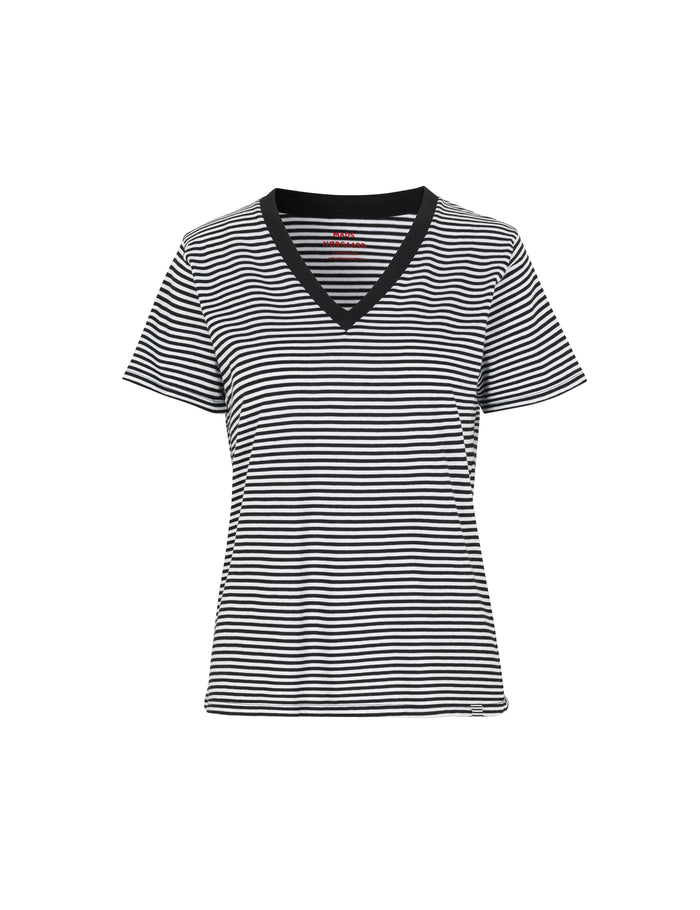 Organic Fav Stripe Trimmy V, Black/White