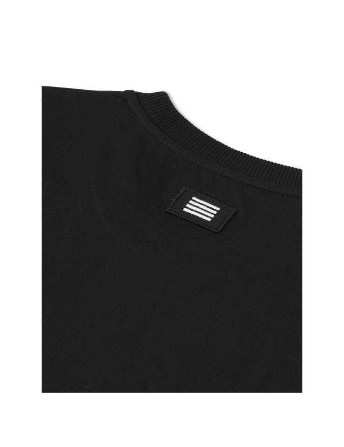 Organic Twin LS Badge, Black