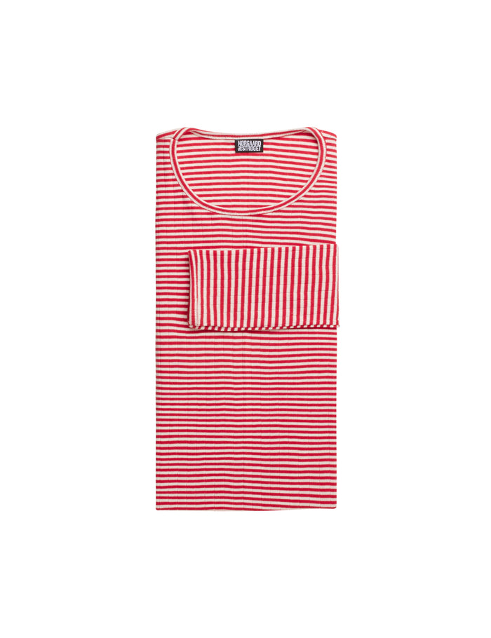 101 Fine Stripe, Red/Ecru