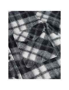 Checky Wool Cabsy, Black/White