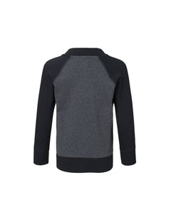 Cotton Rib Jackino Contrast, Charcoal Melange/Black