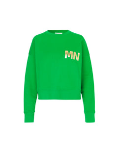 Organic sweat Tilvina p B, Green/Gold