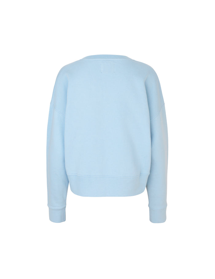 Organic sweat Tilvina v logo, Light Sky