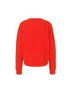 Organic sweat Tilvina v logo, Warm red