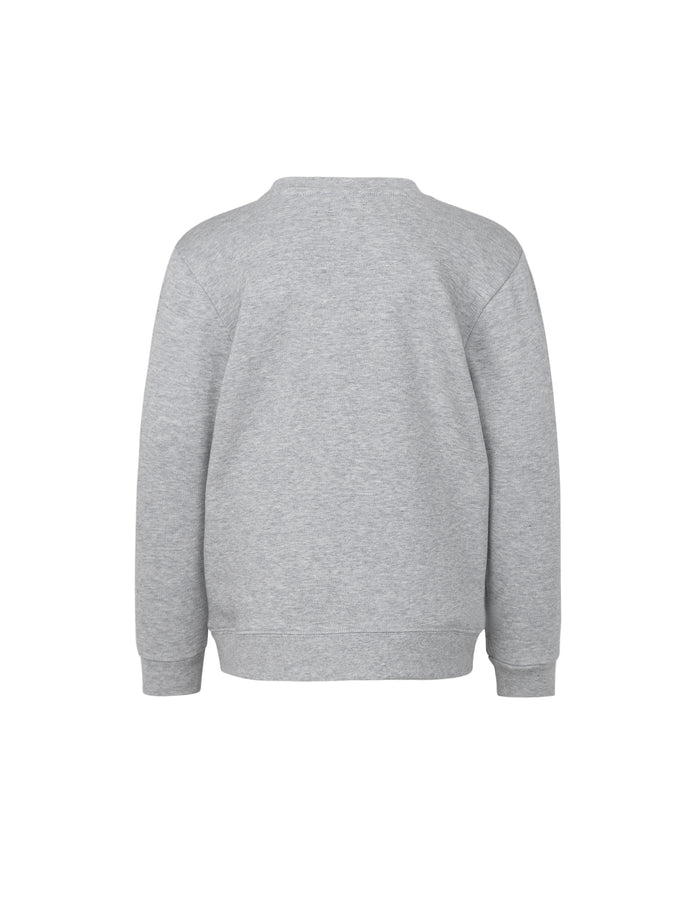 Organic Sweat Solomino, Grey Melange