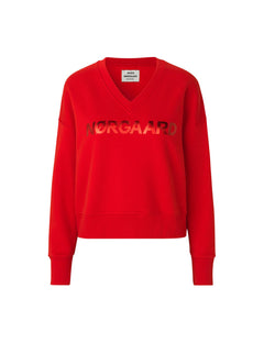 Organic sweat Tilvina V, Red/Red