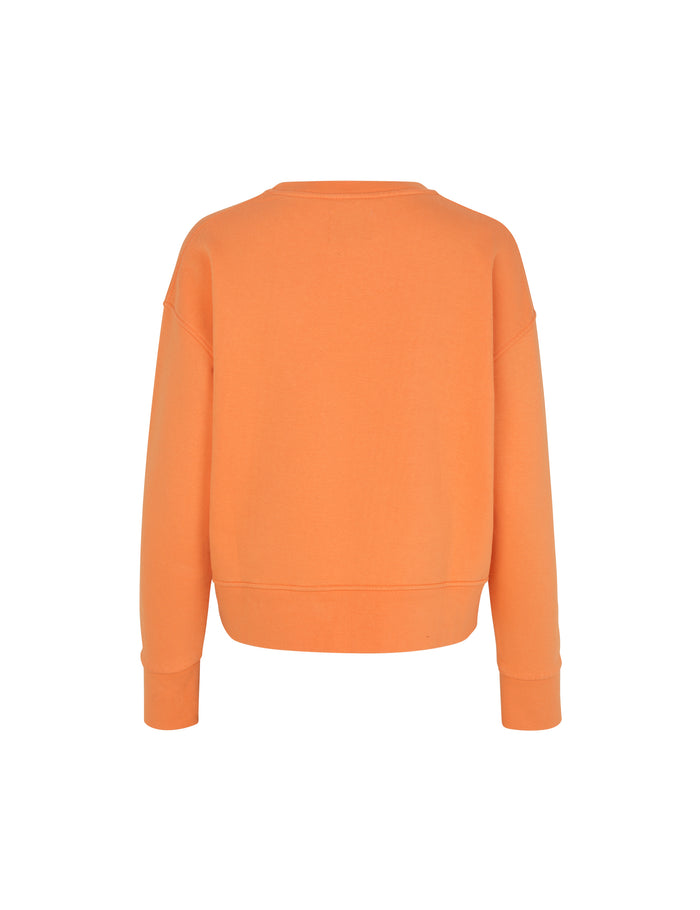 Organic sweat Tilvina P, Orange/White