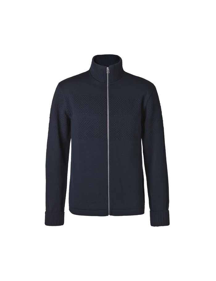 100% Wool Klemens Zip, Sky Captain