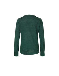 Wool Tender Klembino Zip, Green melange