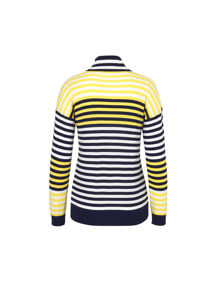 Merino boutique Karilla mix, Navy/white/Yellow