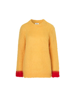 Bold mohair boutique Kranny r, Yellow/Red
