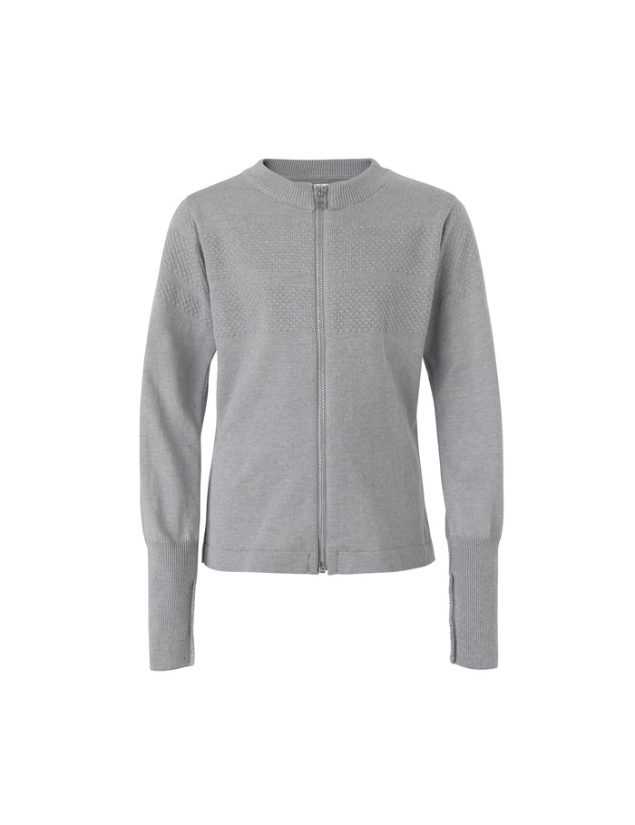 Sailor Cotton Klembino Zip, Grey Melange