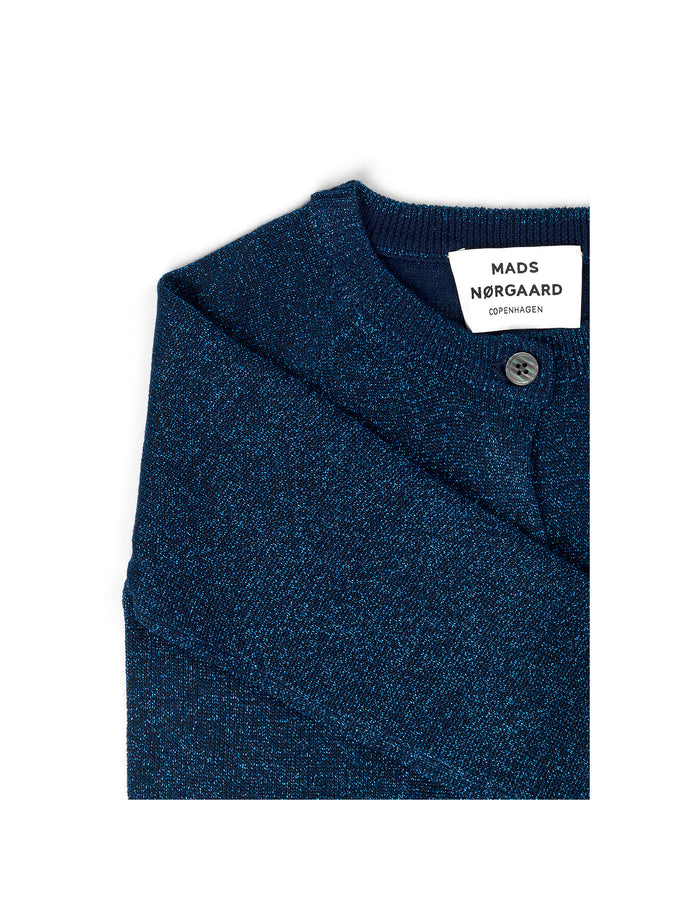Wool Lurex Carmbino, Navy