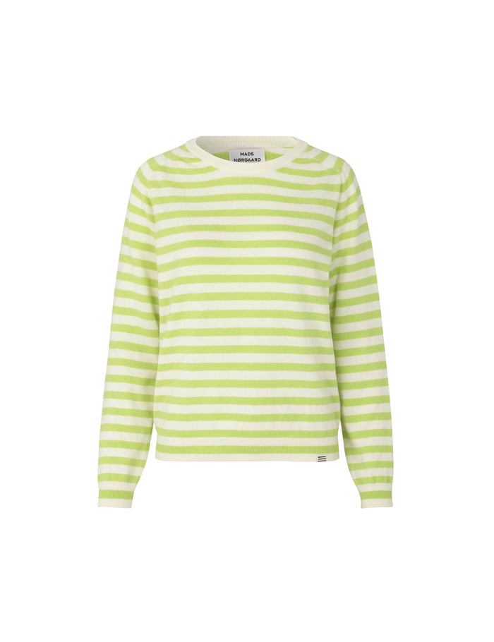 Dream Wool Stripe Kaxa, Ecru/Lime