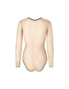 Deli Mesh Bellona, Nude/black dot