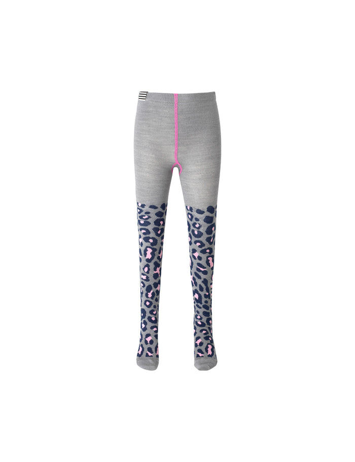 Animal Wool Tights, Grey Melange