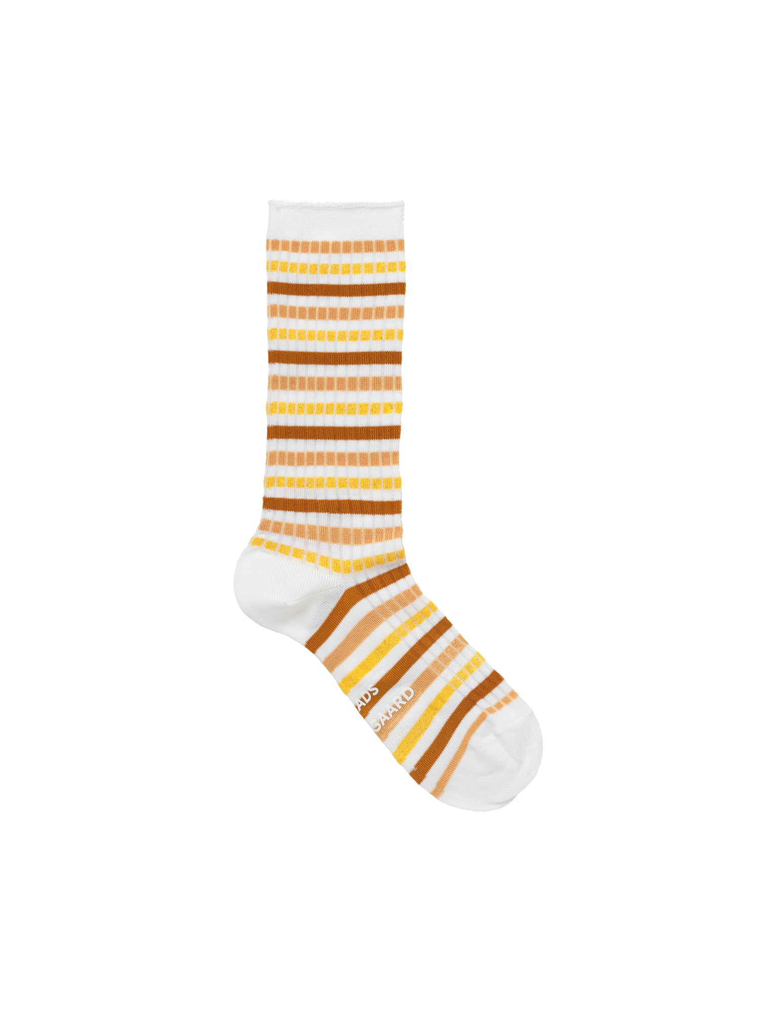 Viscose Rib Andilla, Brown/Yellow Multi