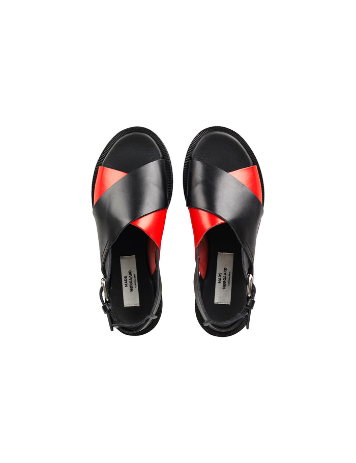 Fine Leather Adione, Black/Red
