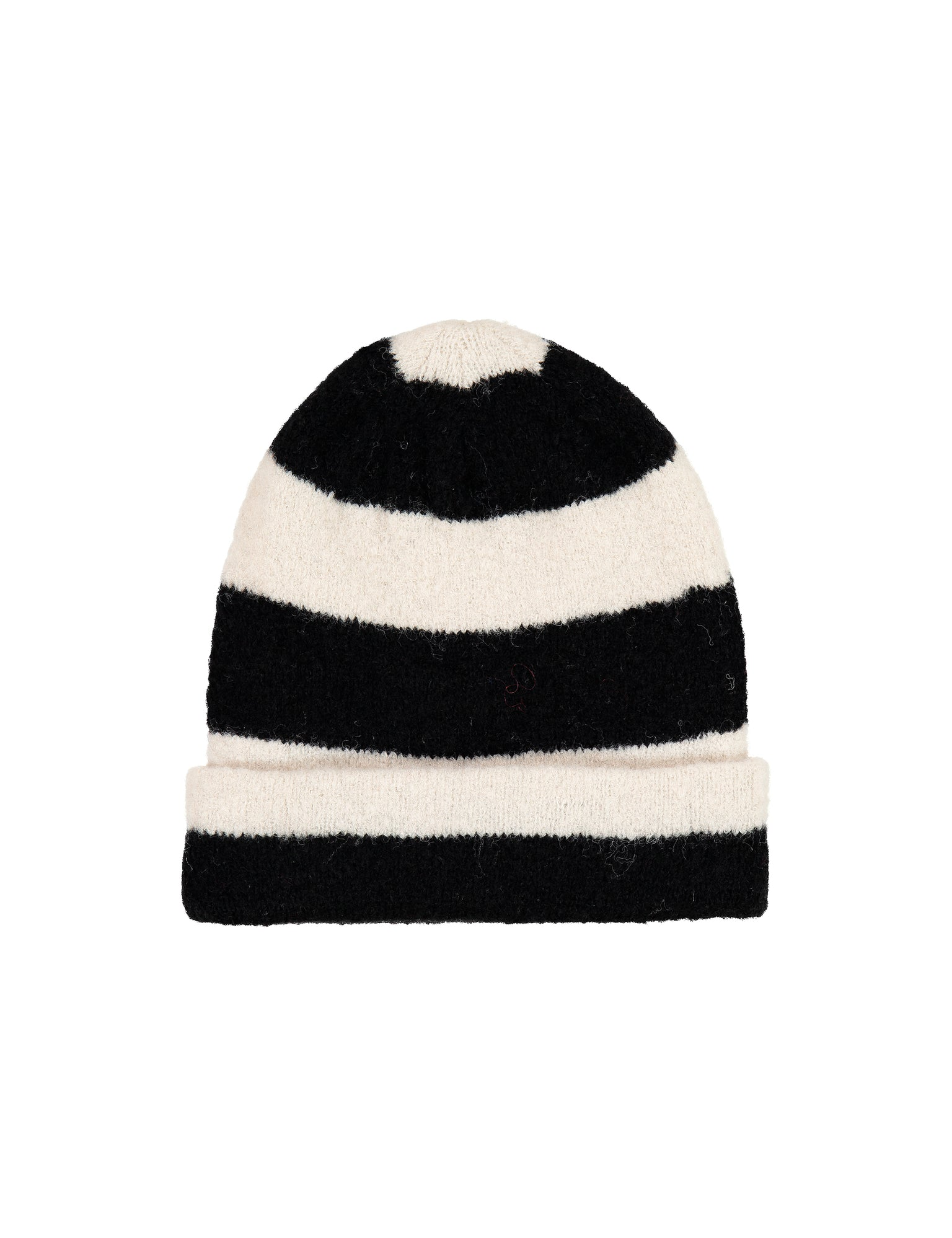 Soft Brushed Knit Alvira, Black/Off White