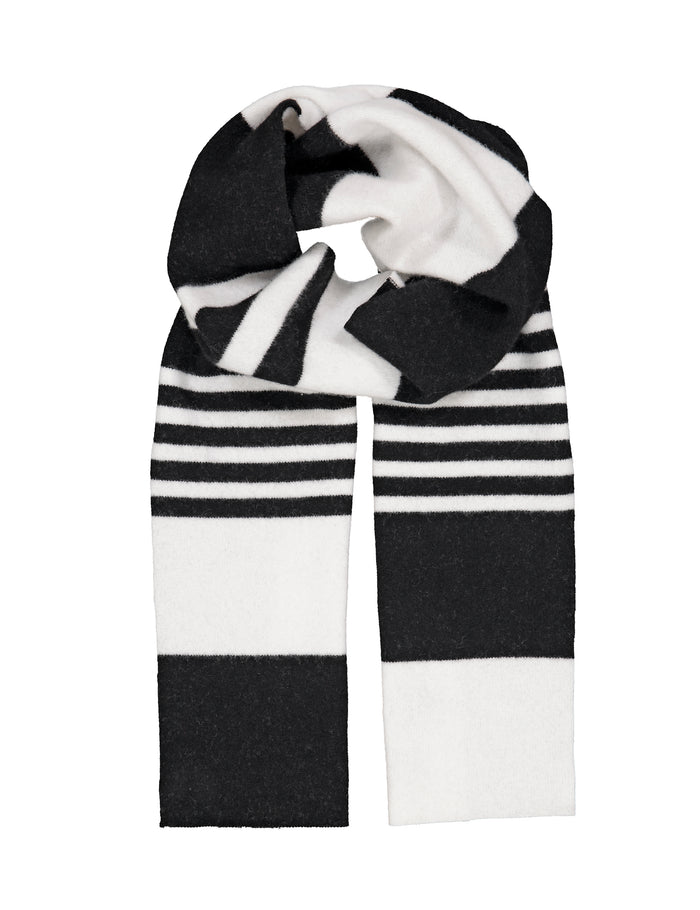 Scot Agus Stripe, Irregular Stripe Black/White
