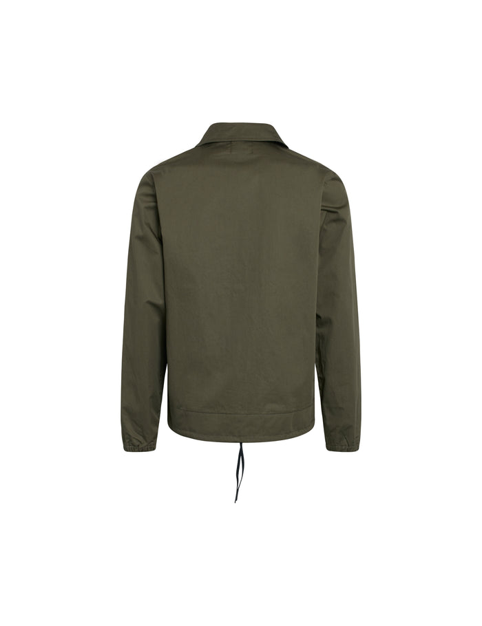 Coated Cotton Coachy, Olive Night