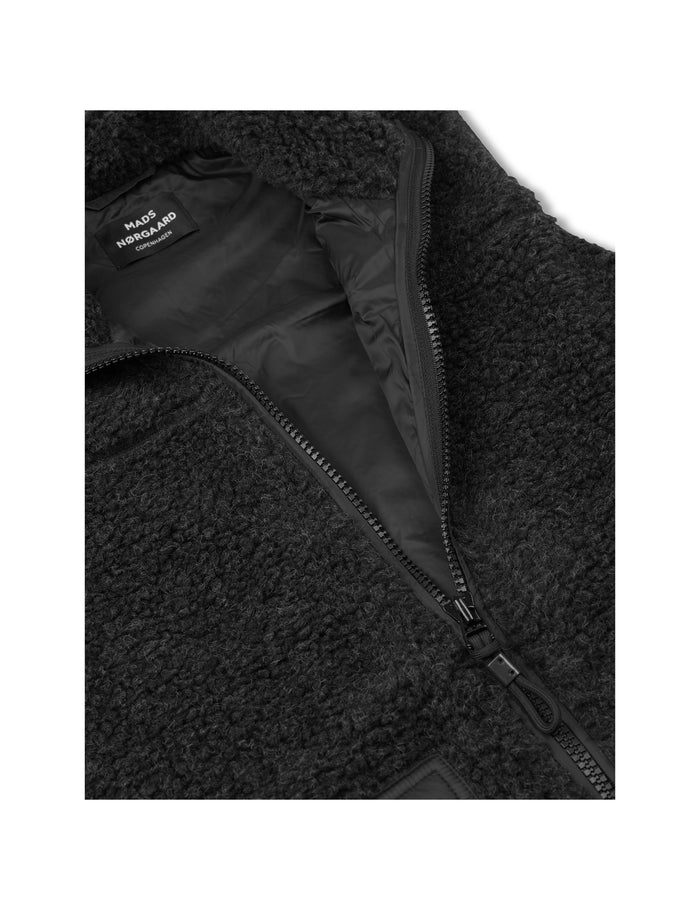 Chunky Fleece Jem, Charcoal Melange