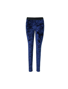 Crushed velvet lux Lou, Navy