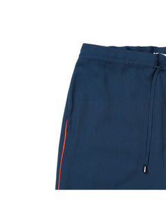 Crepe georgette Puvi pipe, Navy/Deep Orange