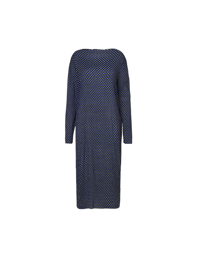 Smock dot Dilzetta, Navy/Yellow