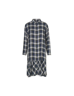 Viscose check Dalaxy frill, Gordon blue