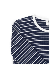 5x5 Cool Stripe Droni, Navy/Ecru