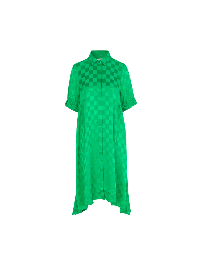 Check Viscose Dancella, Green/Green