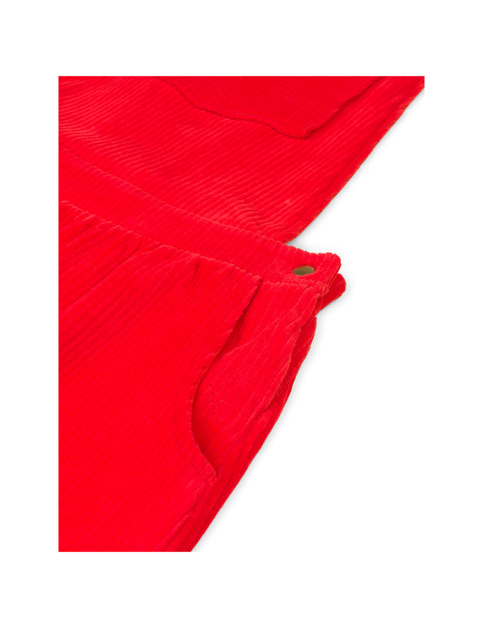 Stretch Corduroy Drilla, Red