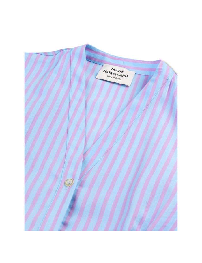 Stripy Visco Difola, Pastel Purple Stripe
