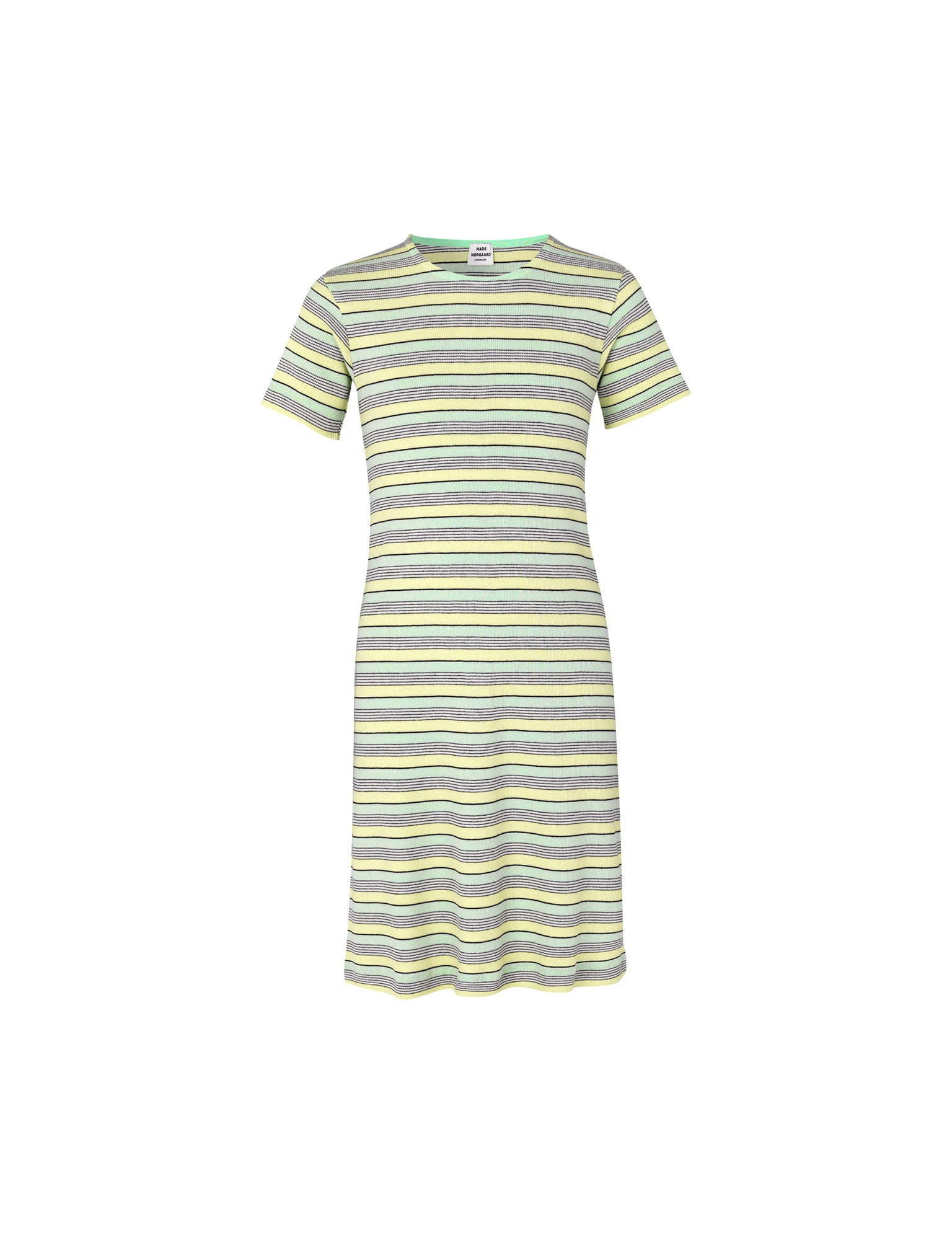 2X2 Stripy Darling, Pastel Yellow Multi