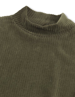 Stretch Corduroy Dacina, Forest green