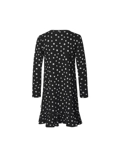 Jacquard Dot Dreamina Long, Black/Ecru