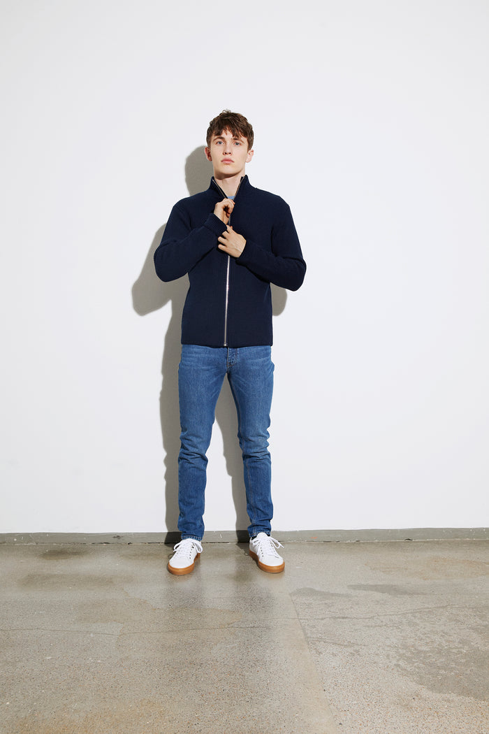 Sailor Rib Korporal Zip, Navy