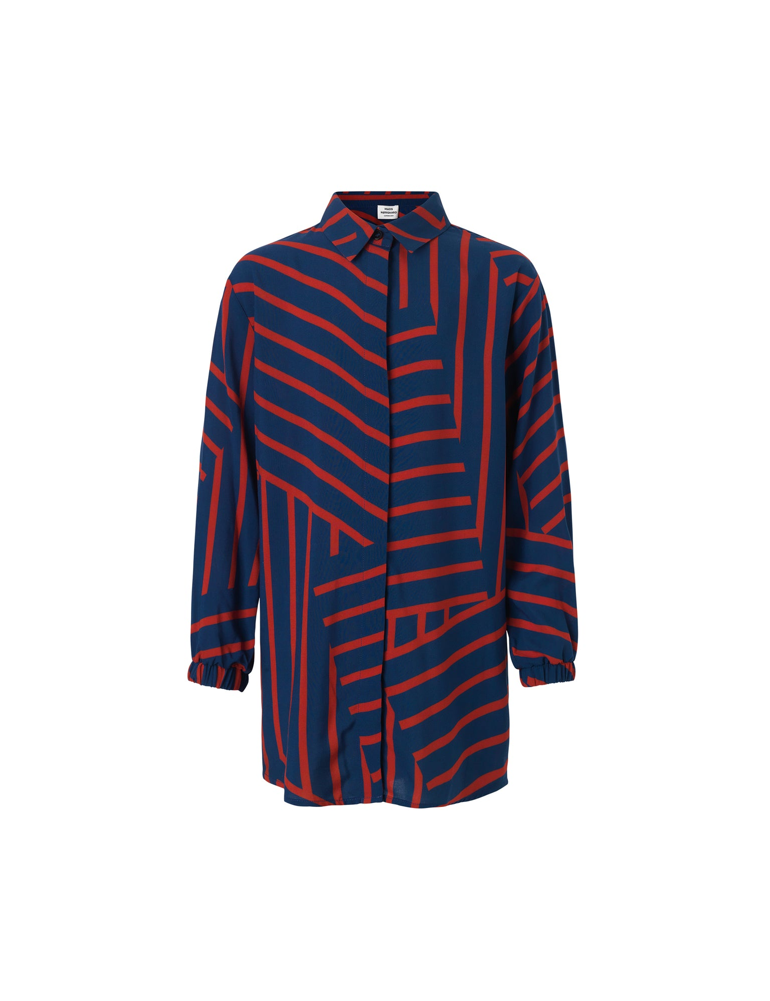 Viscose Stripe Salaxina, Navy/Red